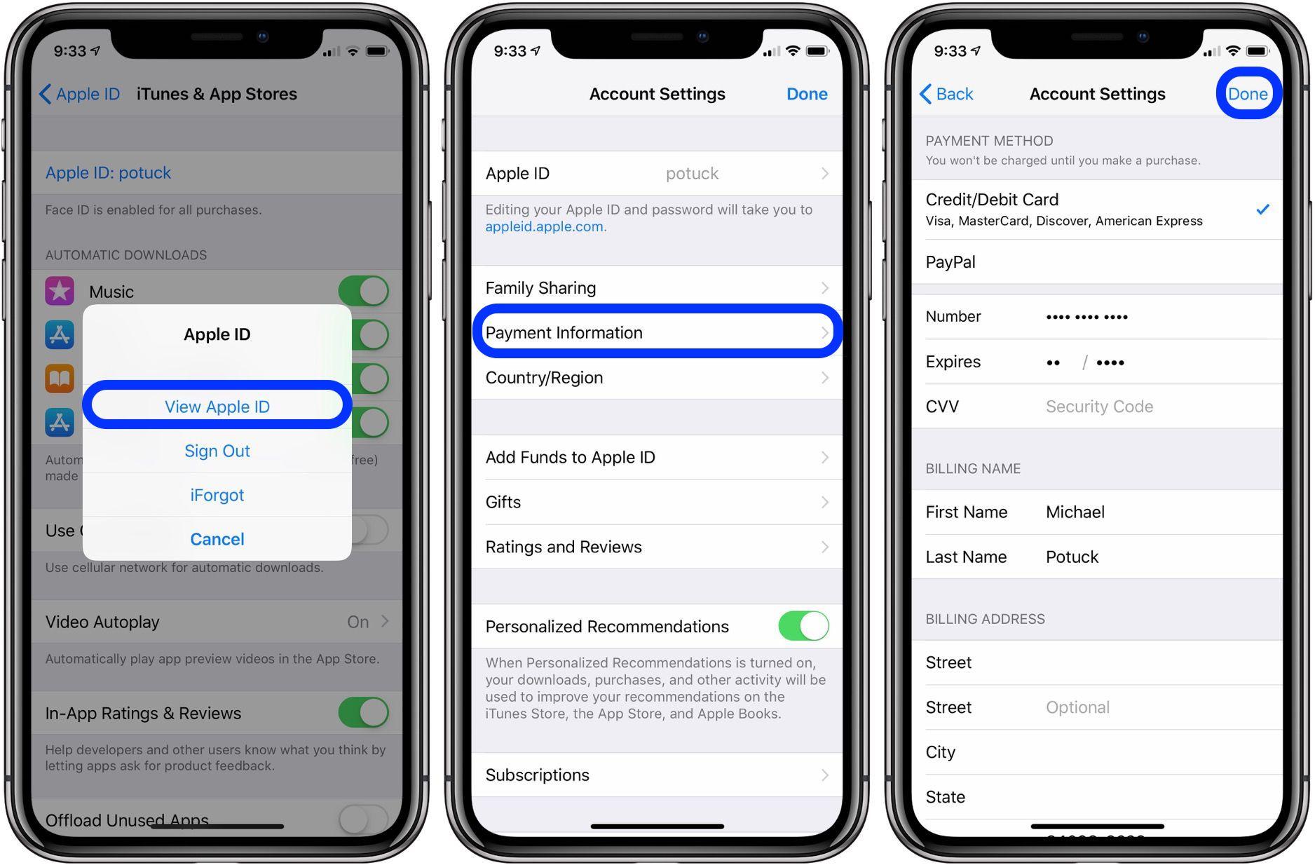 change Apple ID payment method walkthrough 2