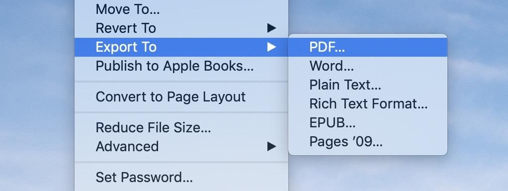 convert pages doc pdf