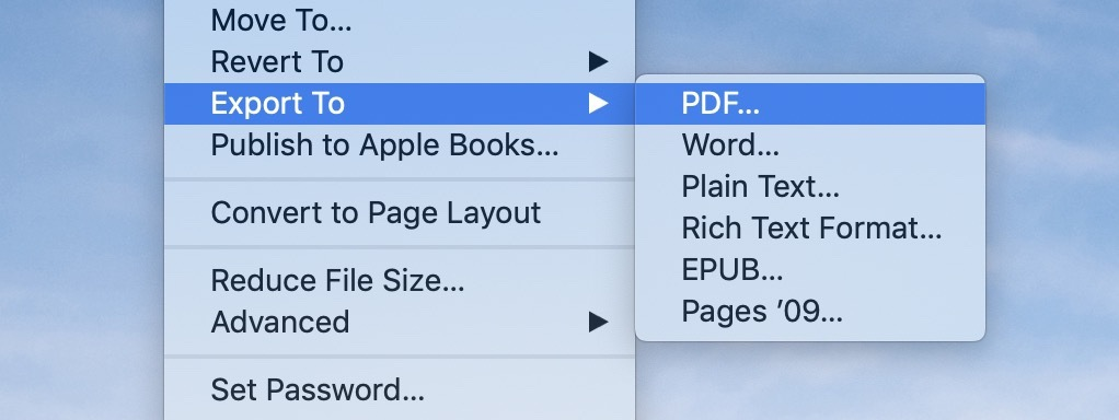 How to convert Pages doc to PDF on Mac - 9to5Mac