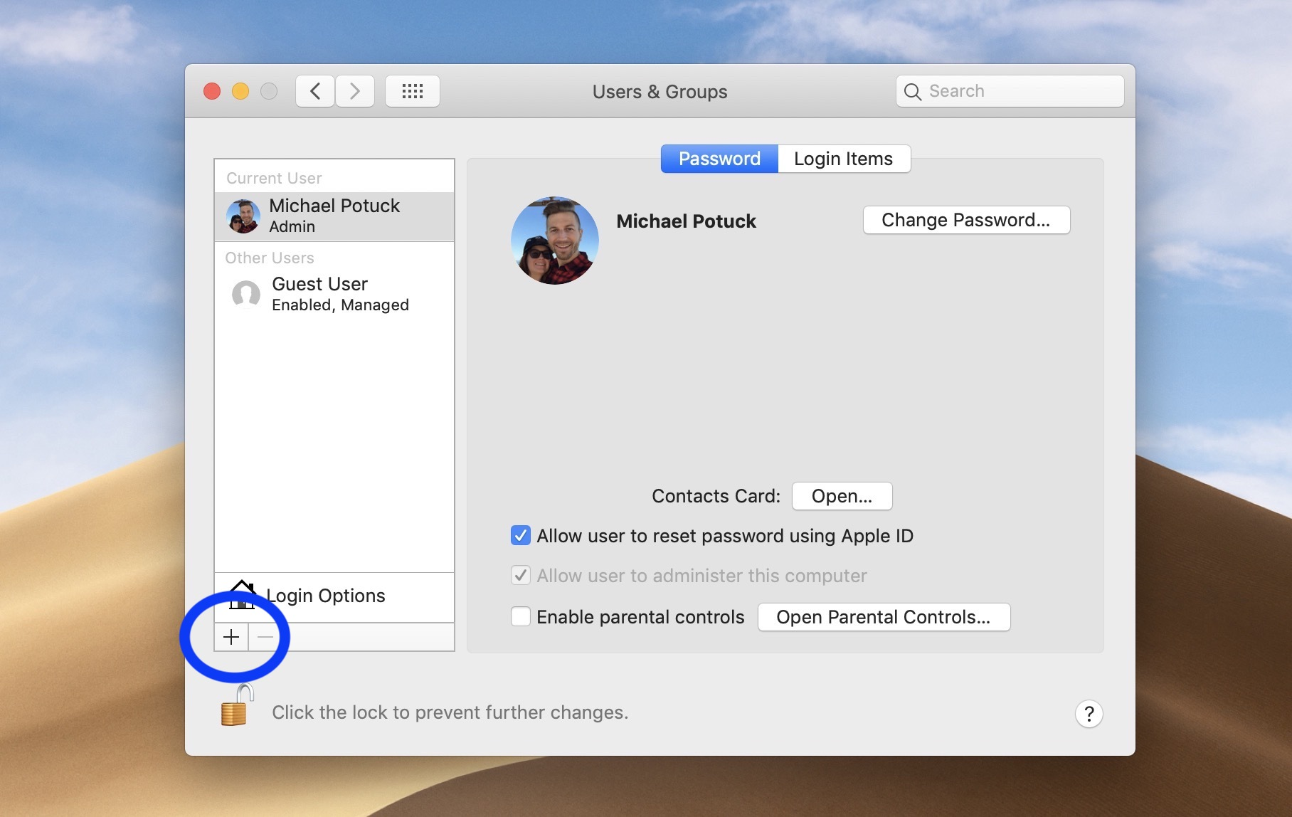 create user account Mac walkthrough 2