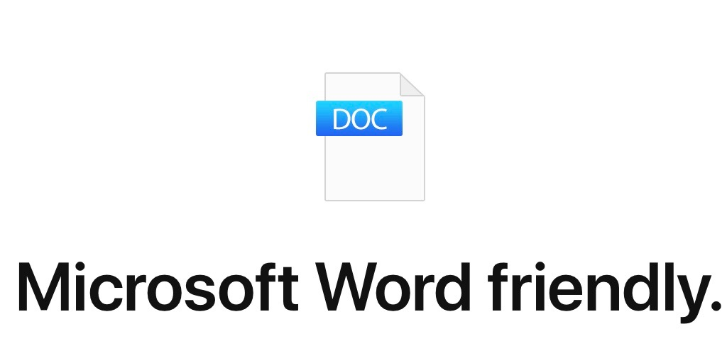 How to convert Pages doc to Microsoft Word doc on Mac