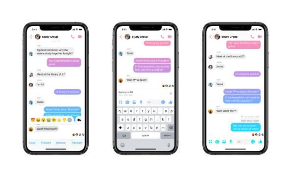 Facebook Messenger adds new threaded replies feature for conversations