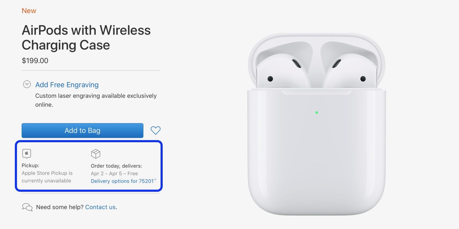 photo of AirPods 2 with Wireless Charging Case shipping slips to April soon after launch image