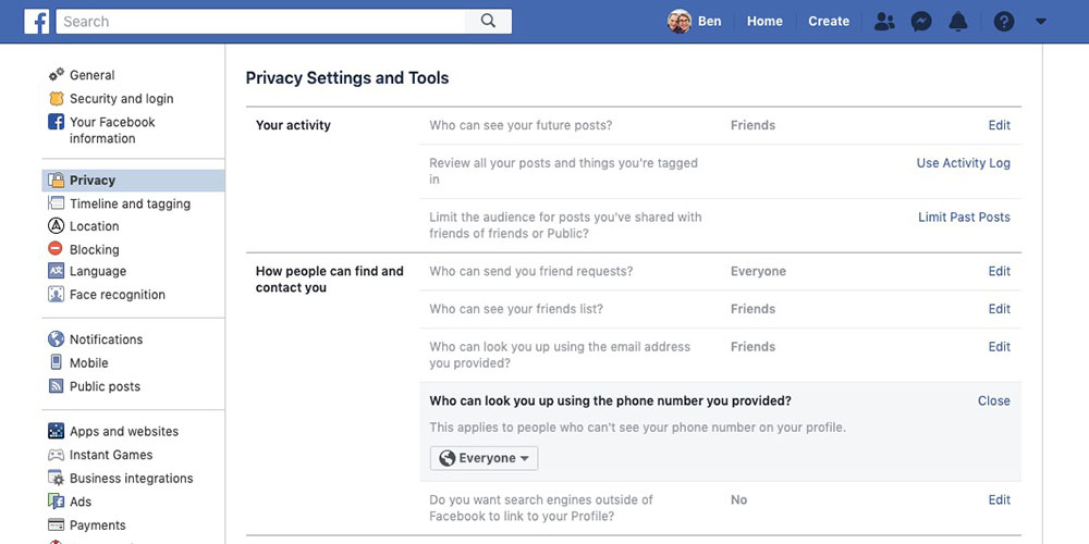 QnA VBage Second problem found with Facebook 2FA security: phone numbers are searchable