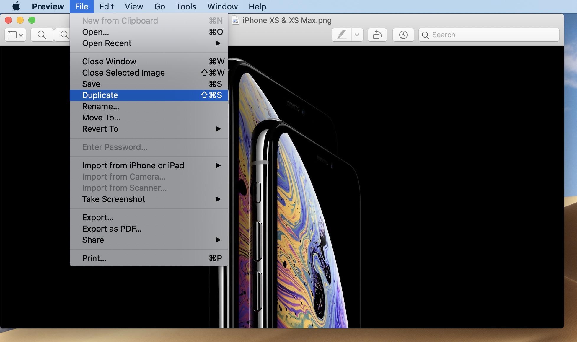 save png tiff as jpg Mac walkthrough 1