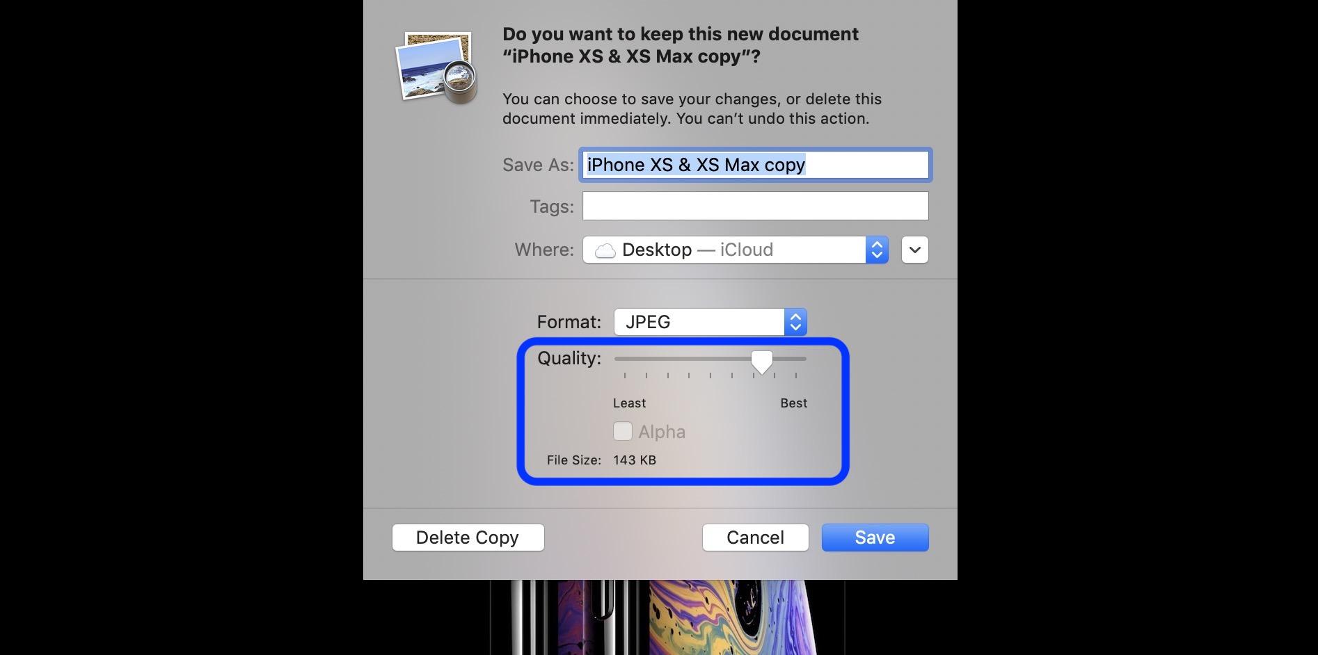 save png tiff as jpg Mac walkthrough 4