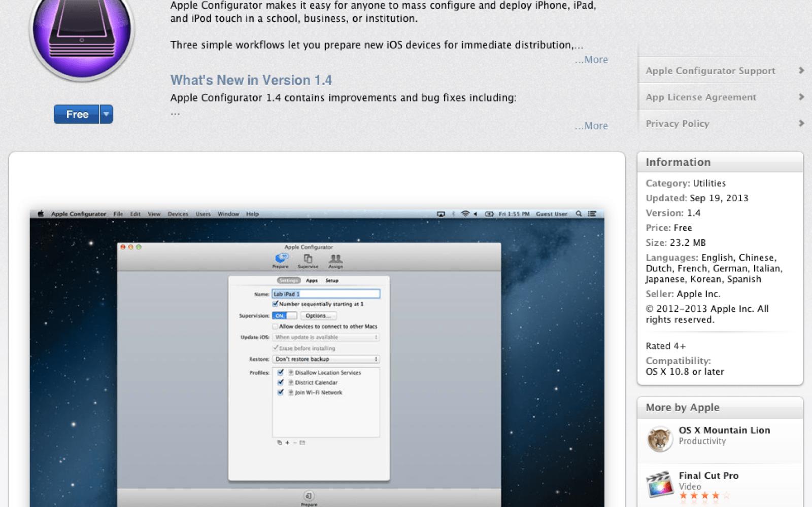 Apple configurator 1