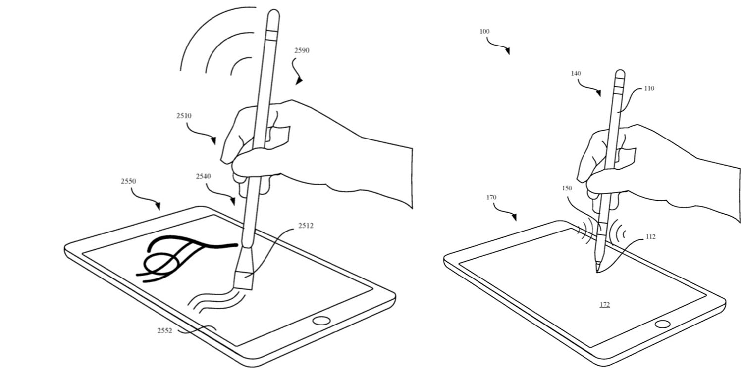 Patent granted today shows Apple Pencil paintbrush attachment and haptic feedback