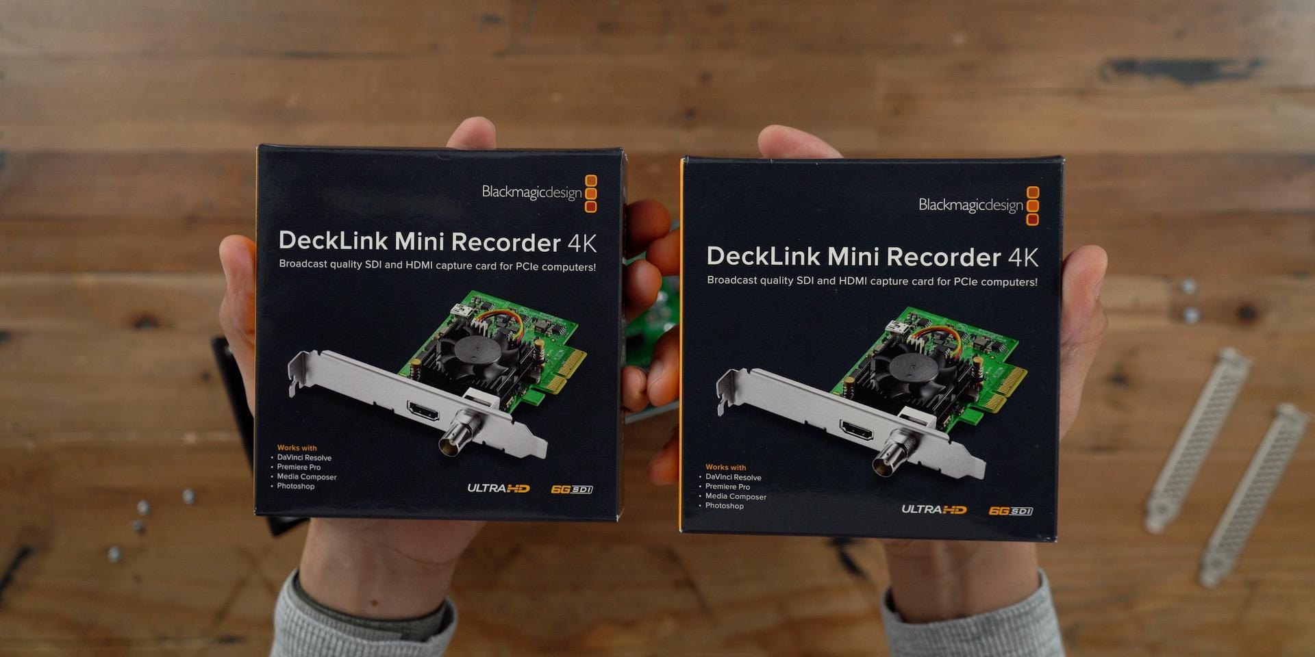 Blackmagic DeckLink Mini Recorder 4K Boxes