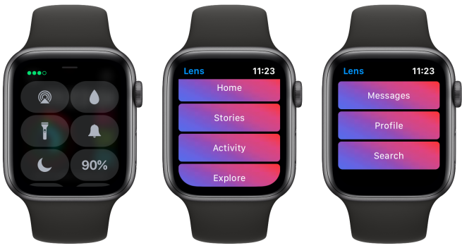 Lens is a modern and featured-packed Instagram app for Apple Watch that works without the iPhone