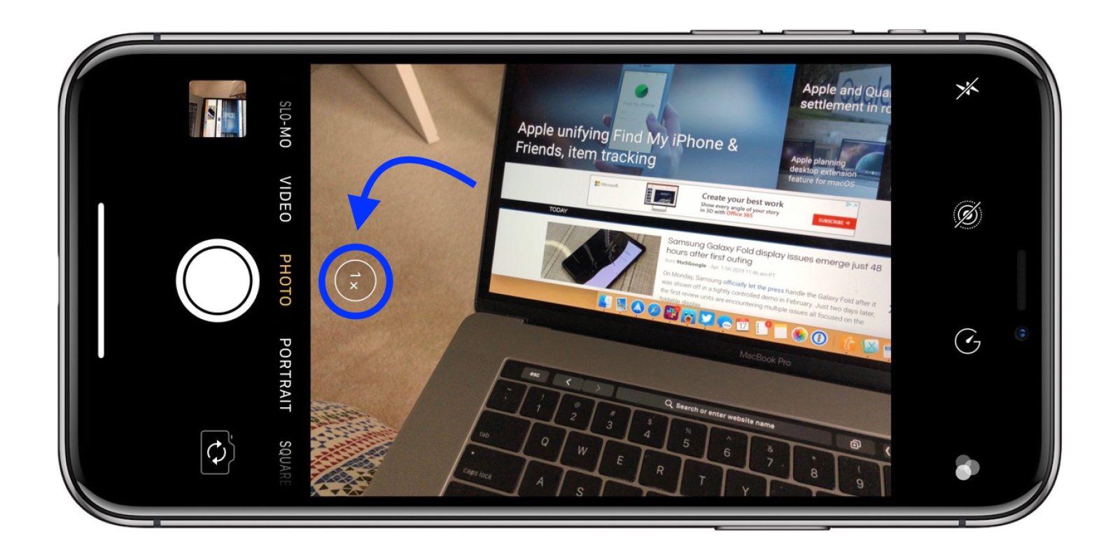 如何在拍照前检查 iPhone 镜头的方向?