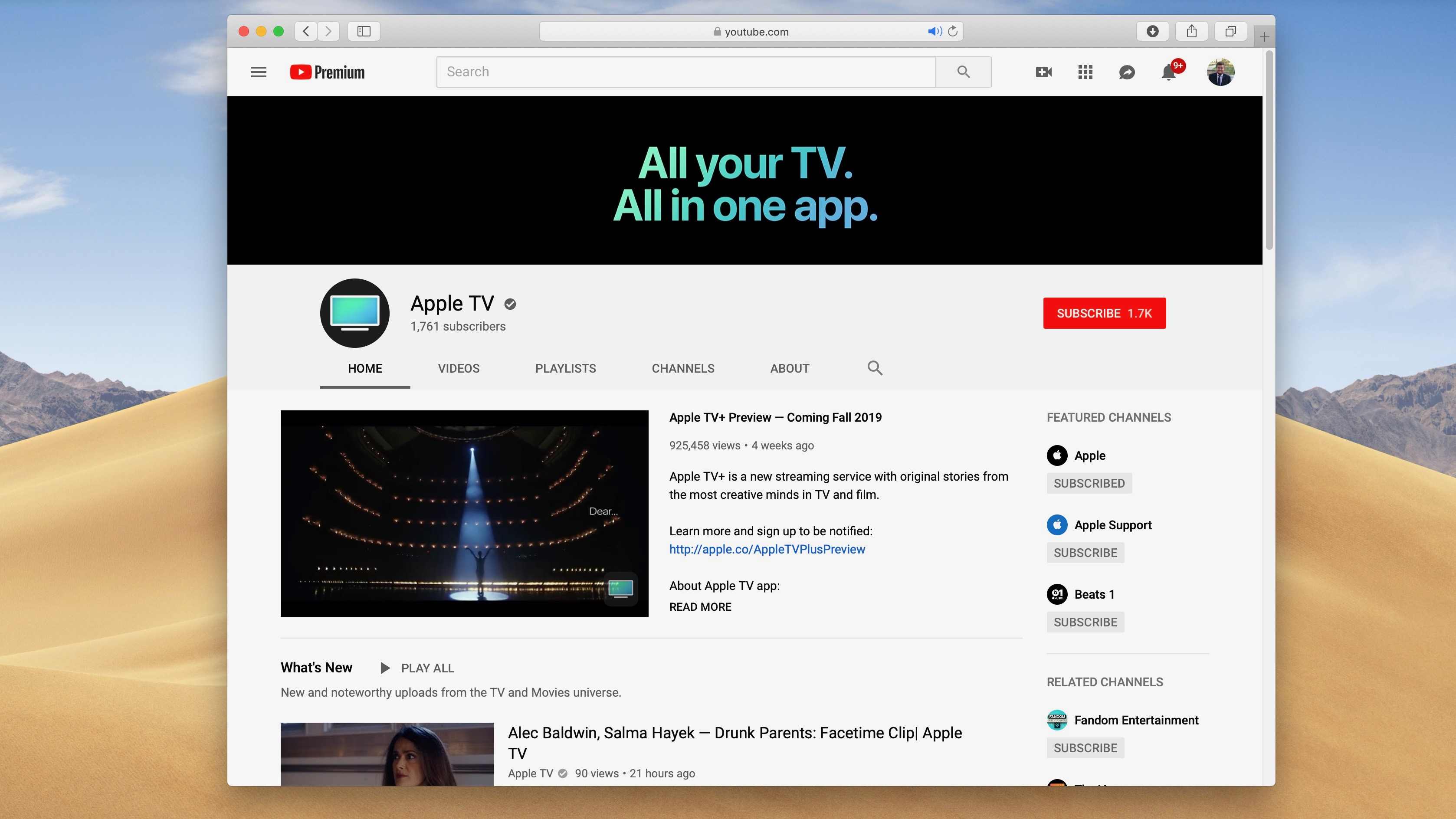 Apple TV YouTube channel debuts, featuring behind-the-scenes videos, trailers, and more