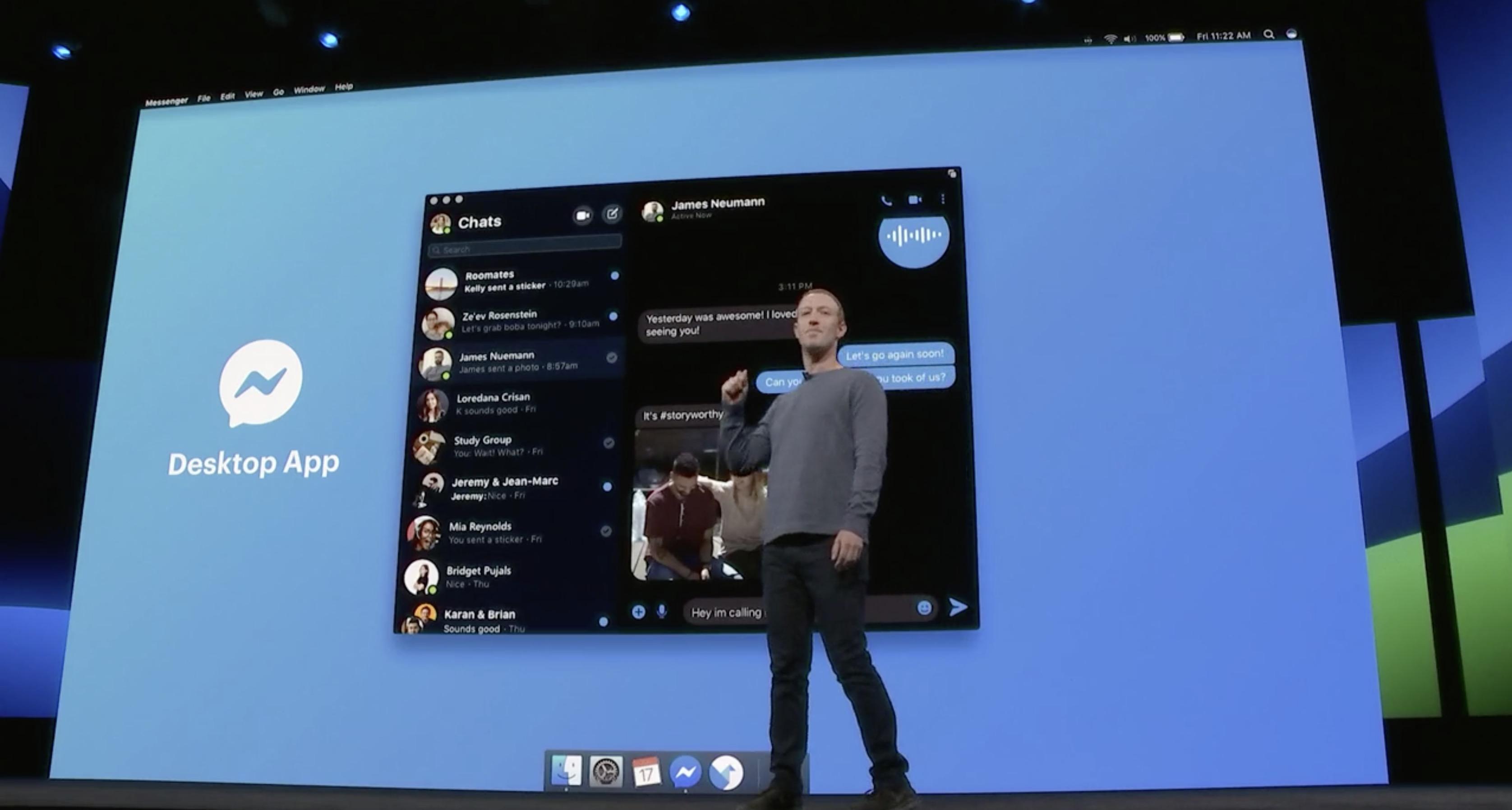 Facebook F8 Messenger Mac