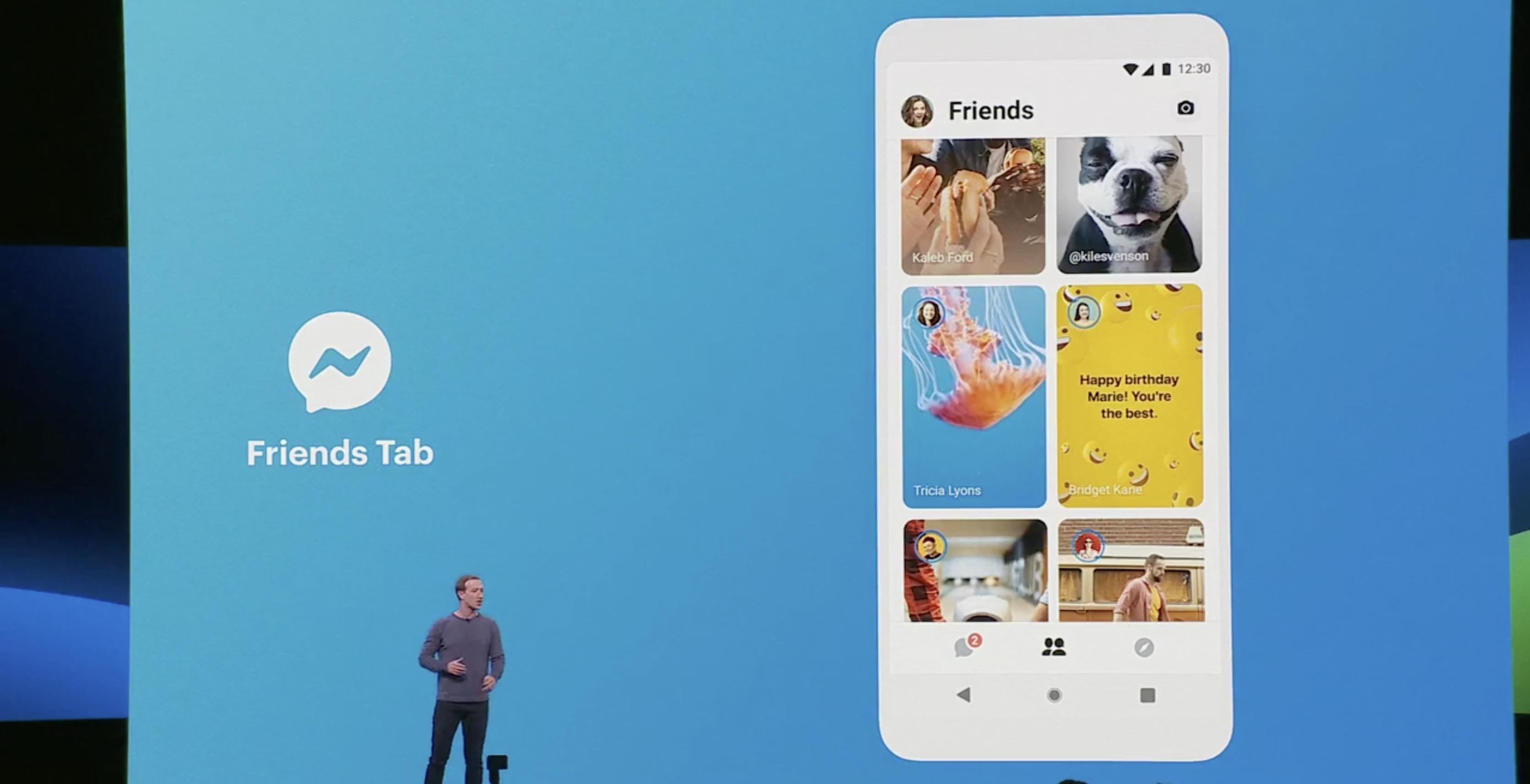 Facebook F8 Messenger Friends tab