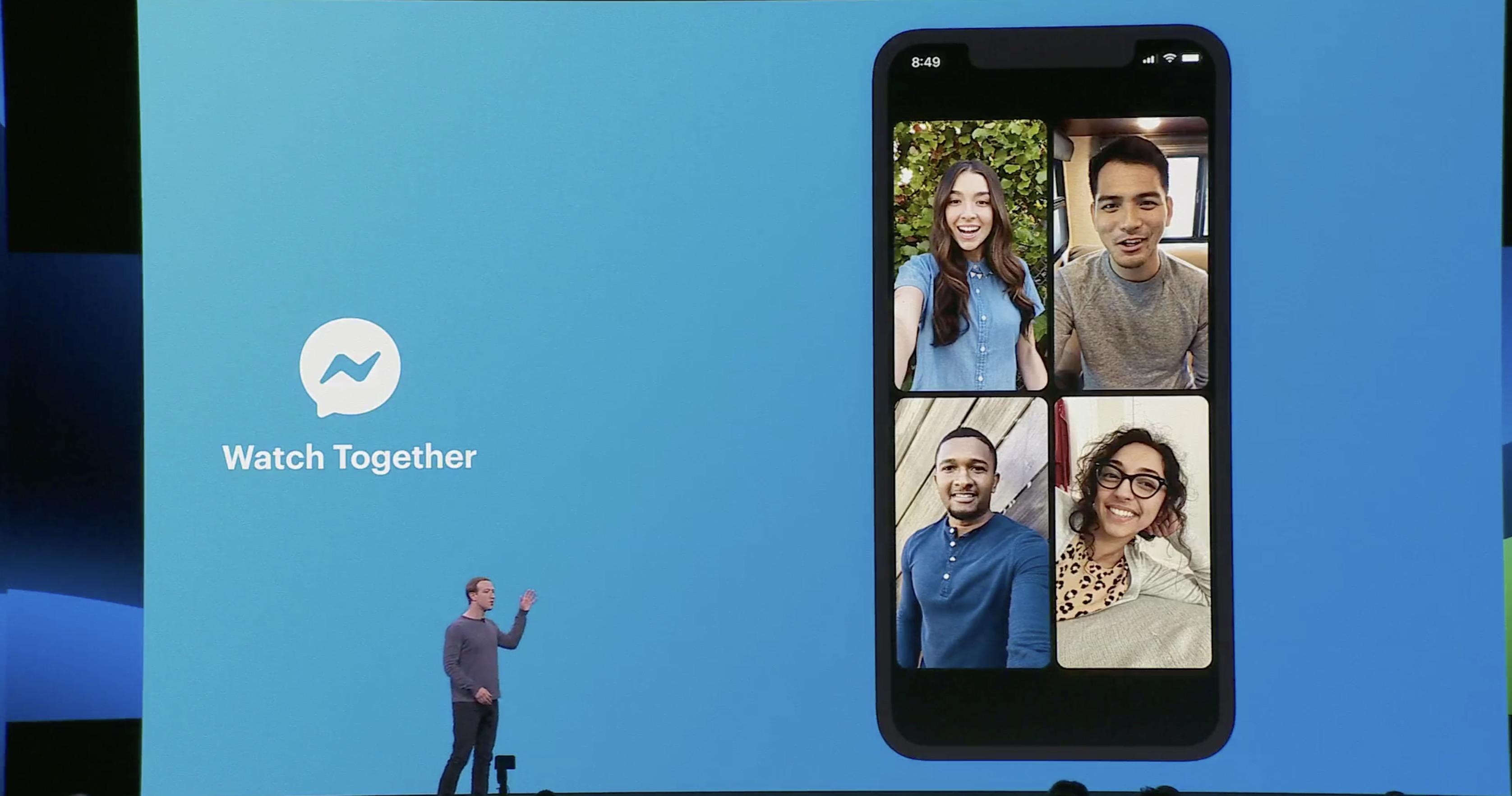 Facebook F8 Messenger Watch Together