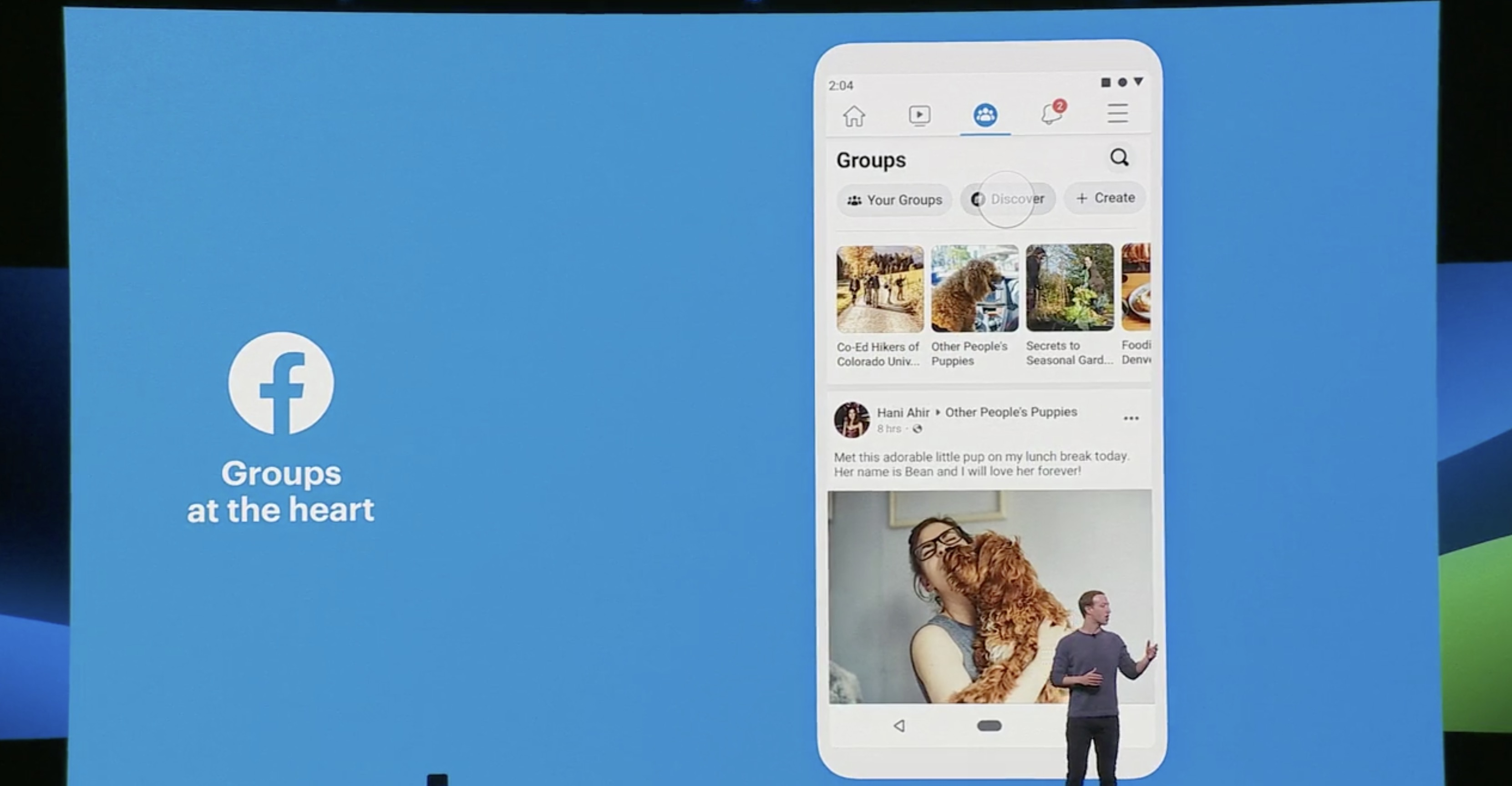 Facebook F8 groups focus