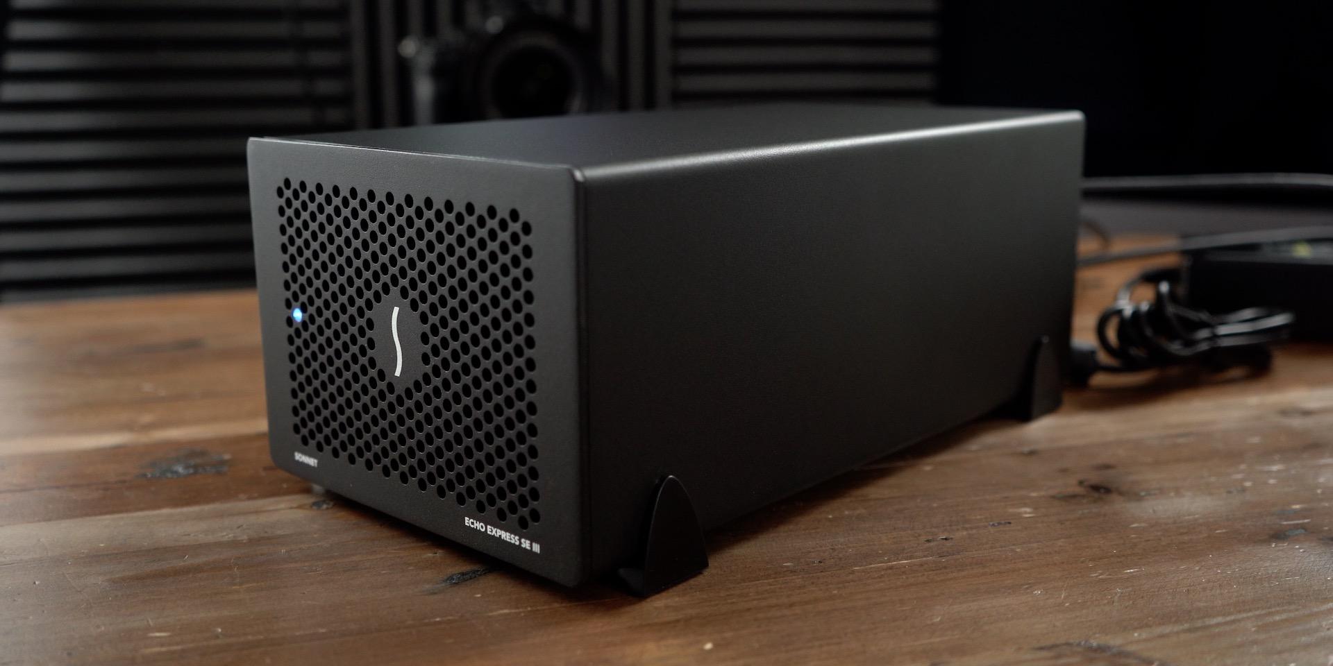 Sonnet Echo Express SEIII 4K video capture enclosure with Blackmagic Decklink Mini Recorder 4K