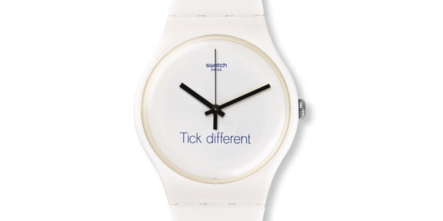 Swatch wins trademark battle with Apple over 'Tick Different' slogan