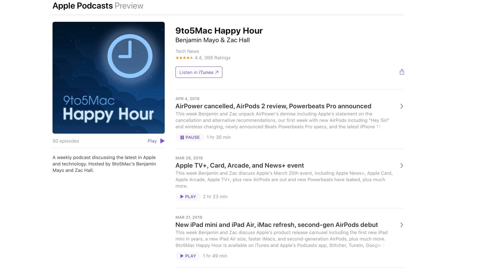 Techmeme: Apple Podcasts on the web gets an overhaul, with a new