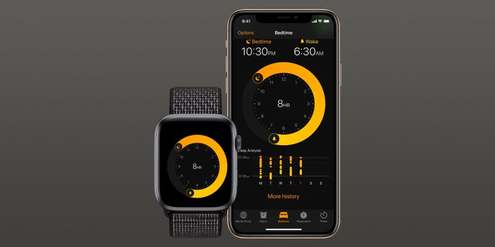 apple watch bedtime mode mockup