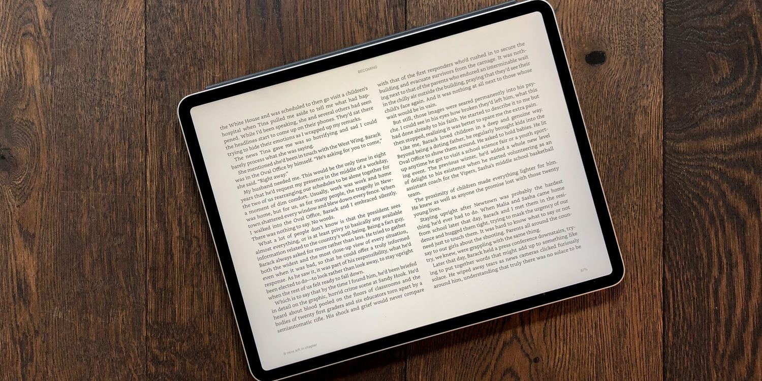 The 12 9-inch model has cured my Kindle Paperwhite envy