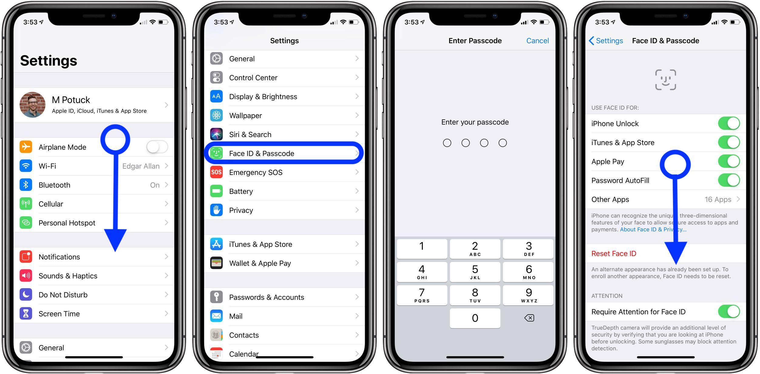 change passcode iPhone iPad walkthrough