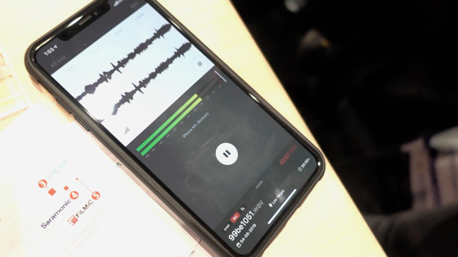 Filmic Audio app