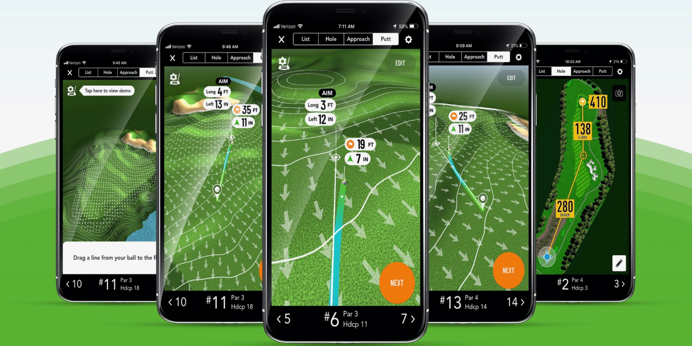 GolfLogix app for iPhone now offers animated putt line