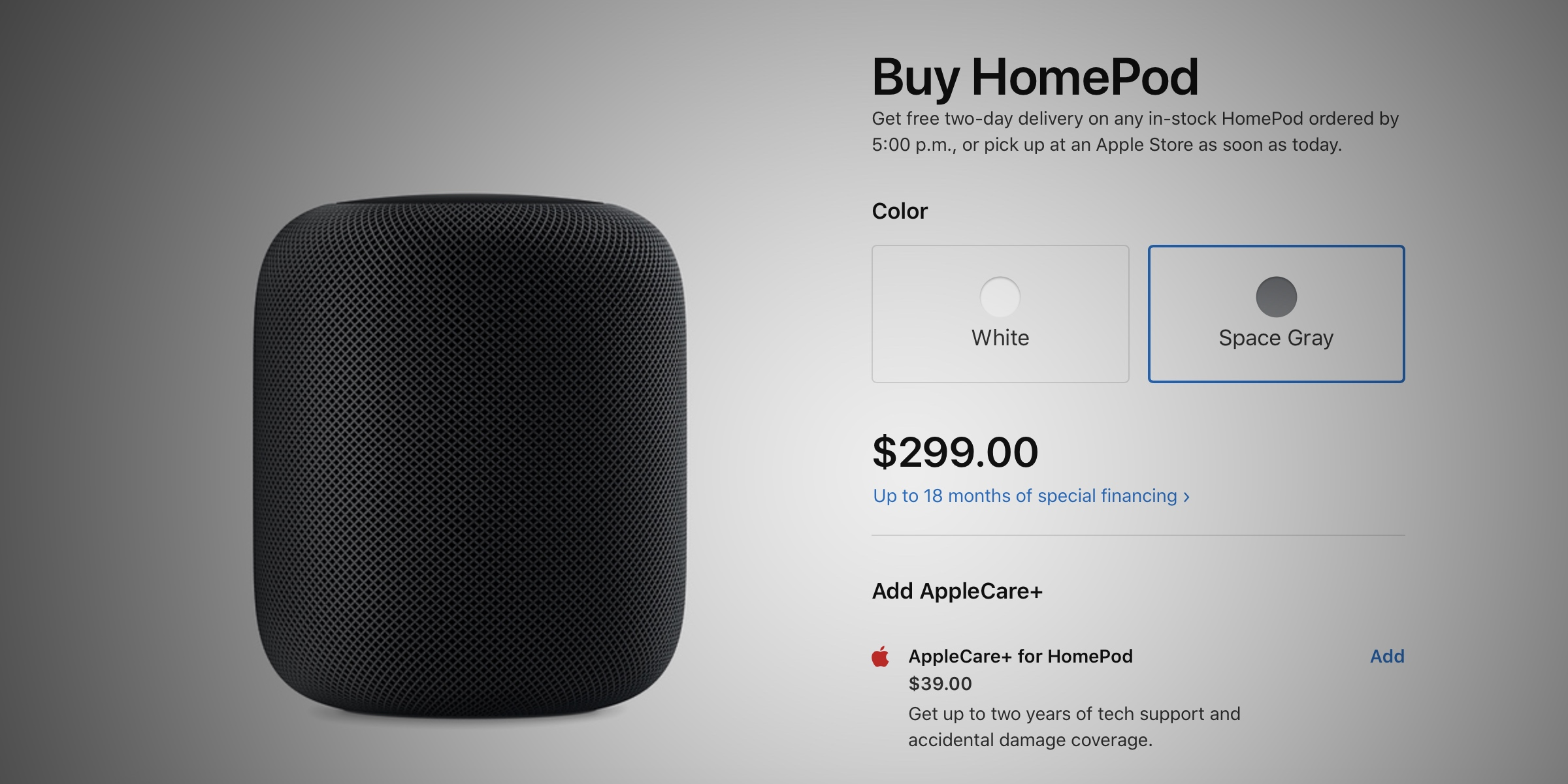 Apple cuts price of HomePod worldwide, now $299 at the US Apple Store