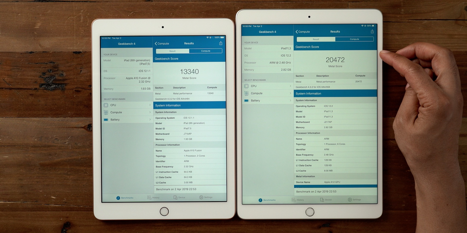 iPad Air 3 review speed test