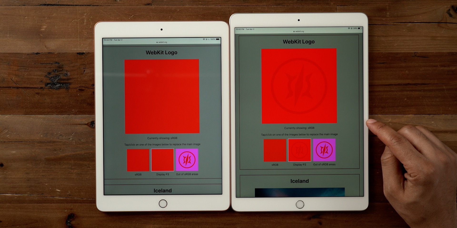 iPad Air 3 display