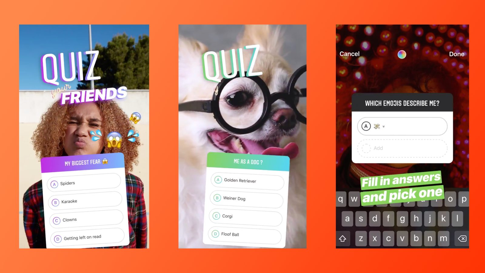 Instagram quiz feature lets you ask multiple choice
