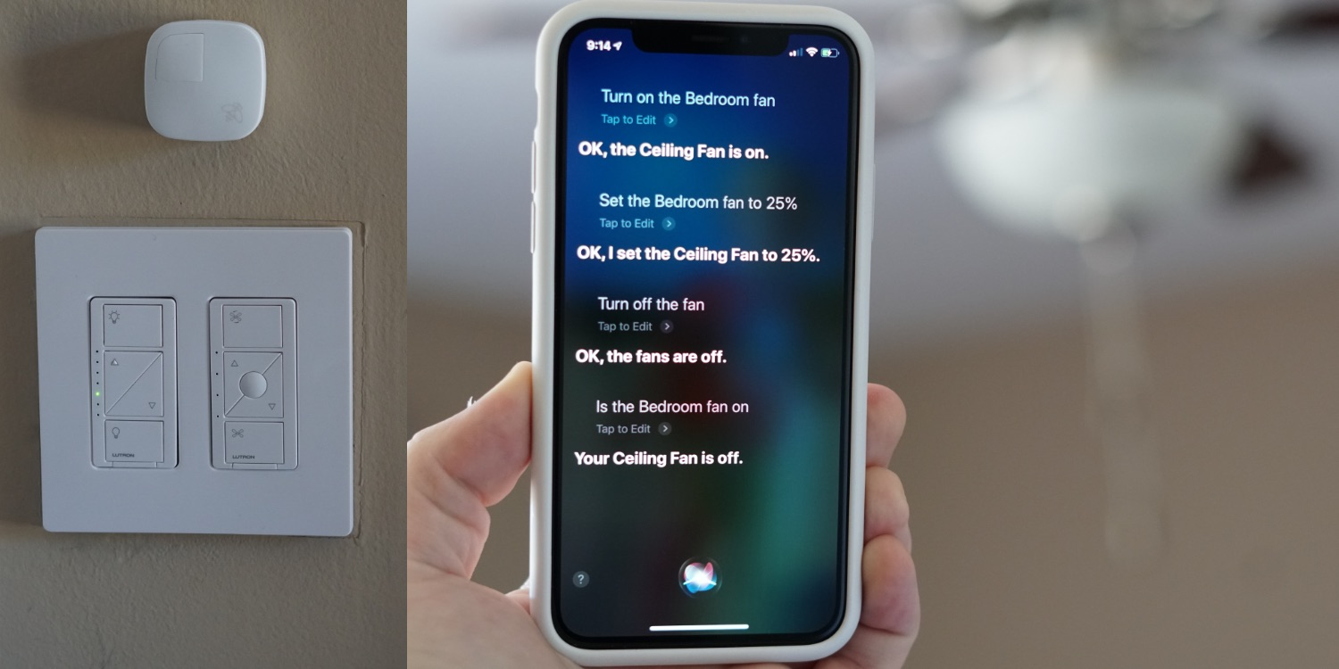 Review Lutron S Fan Sd Control Is The Best Way To Retrofit Your Ceiling With Homekit