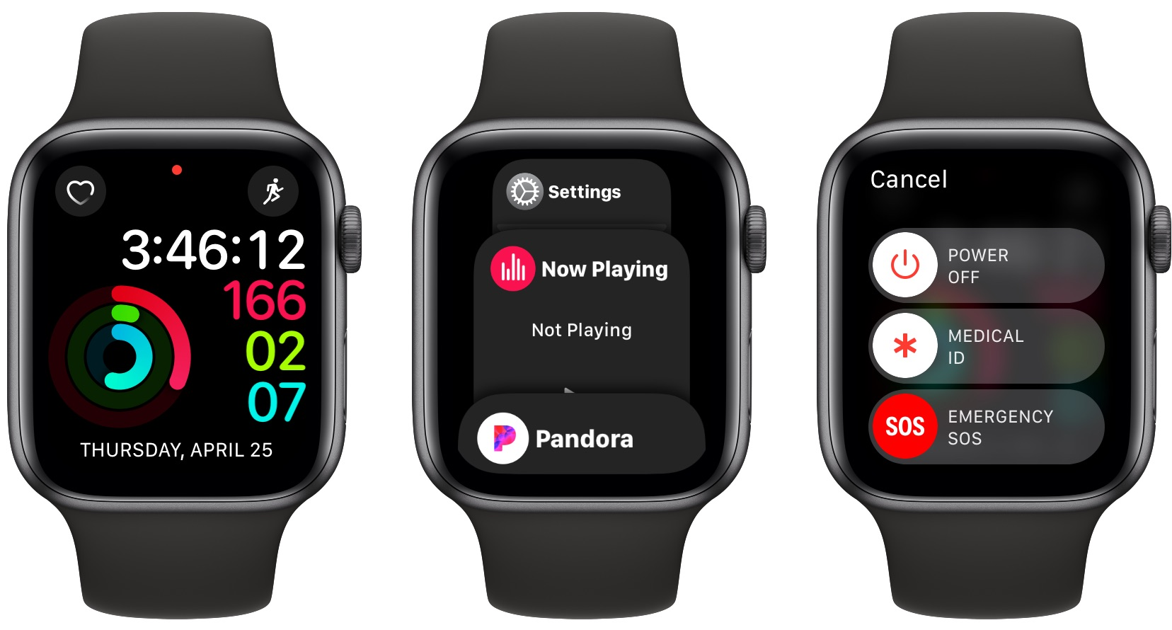 where is the power button on Apple Watch?