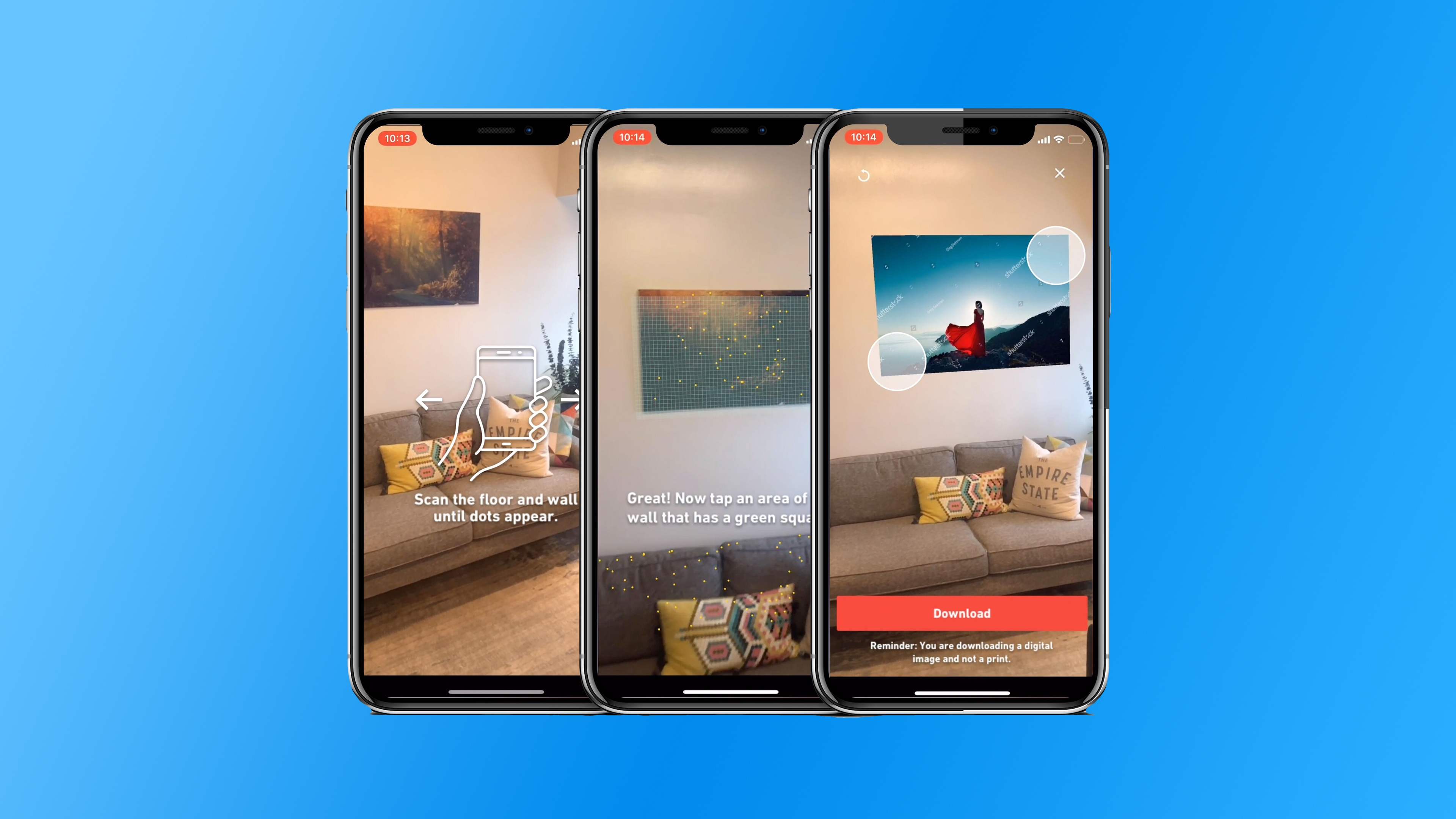 Shutterstock for iOS adds new 'View in Room' augmented reality feature