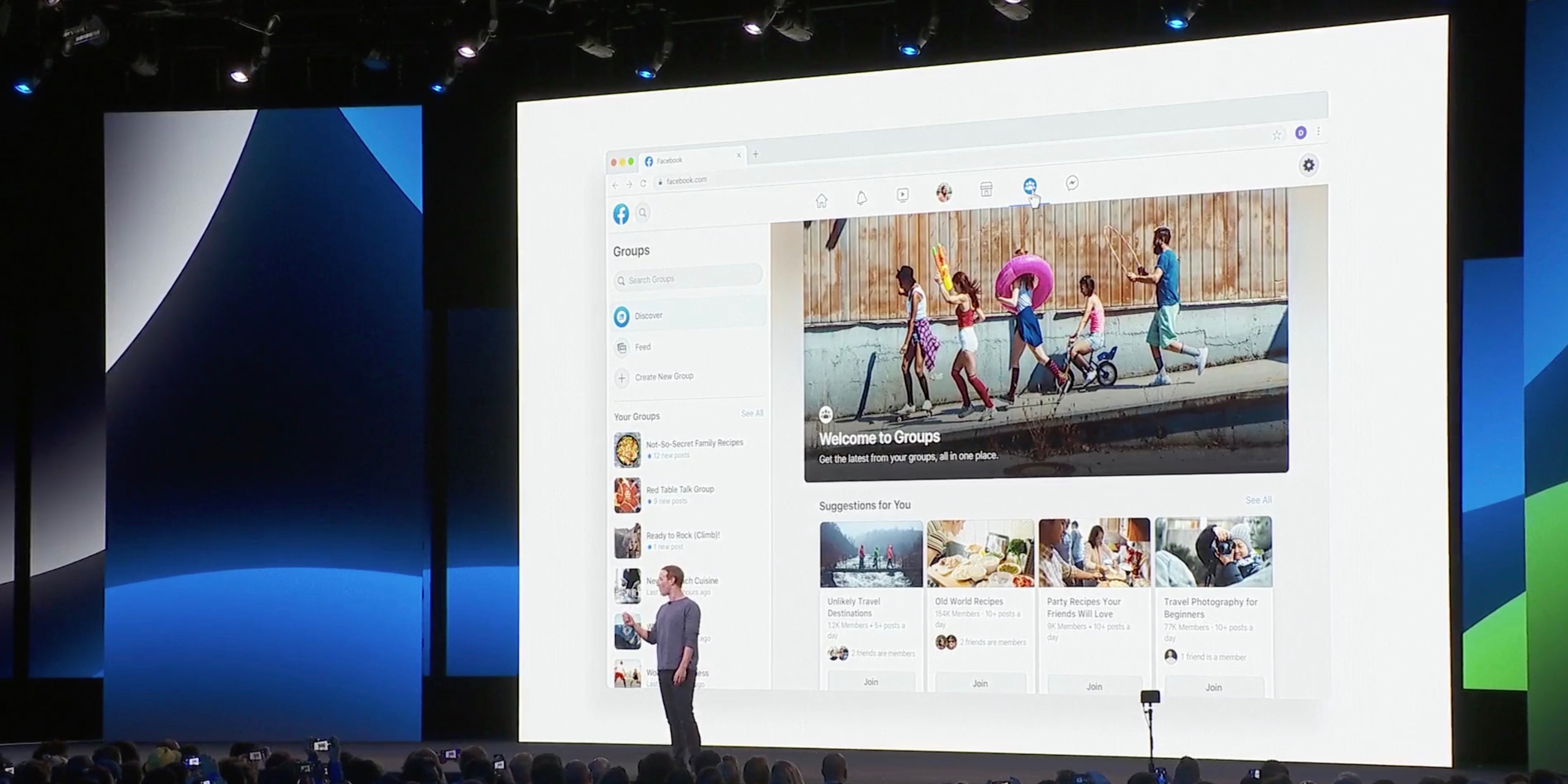Facebook Shows Off Next Major Design Including New Logo 9to5mac But there's a simple workaround that will force f. facebook shows off next major design