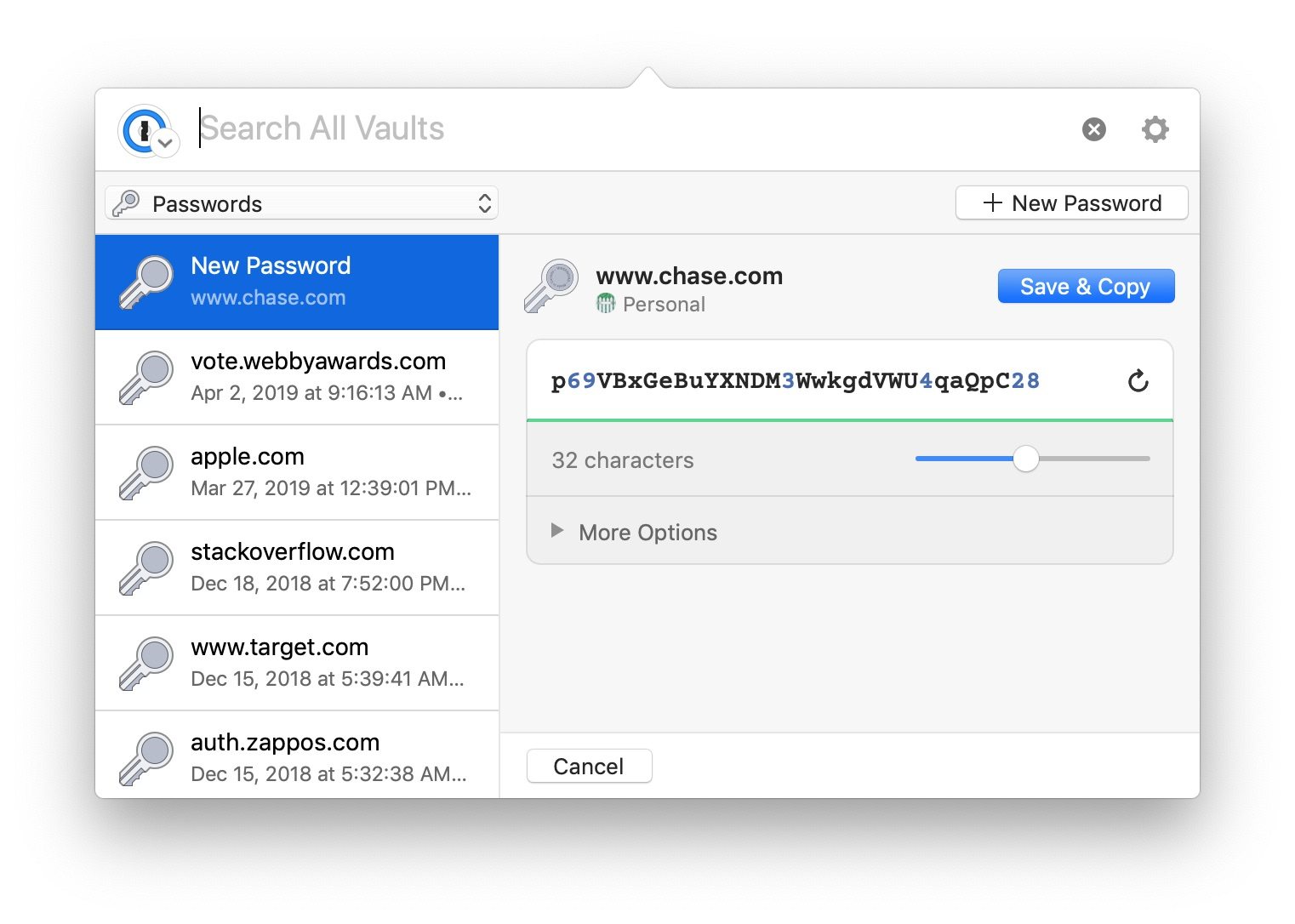 1Password for Mac gains updated mini interface with improvements to
