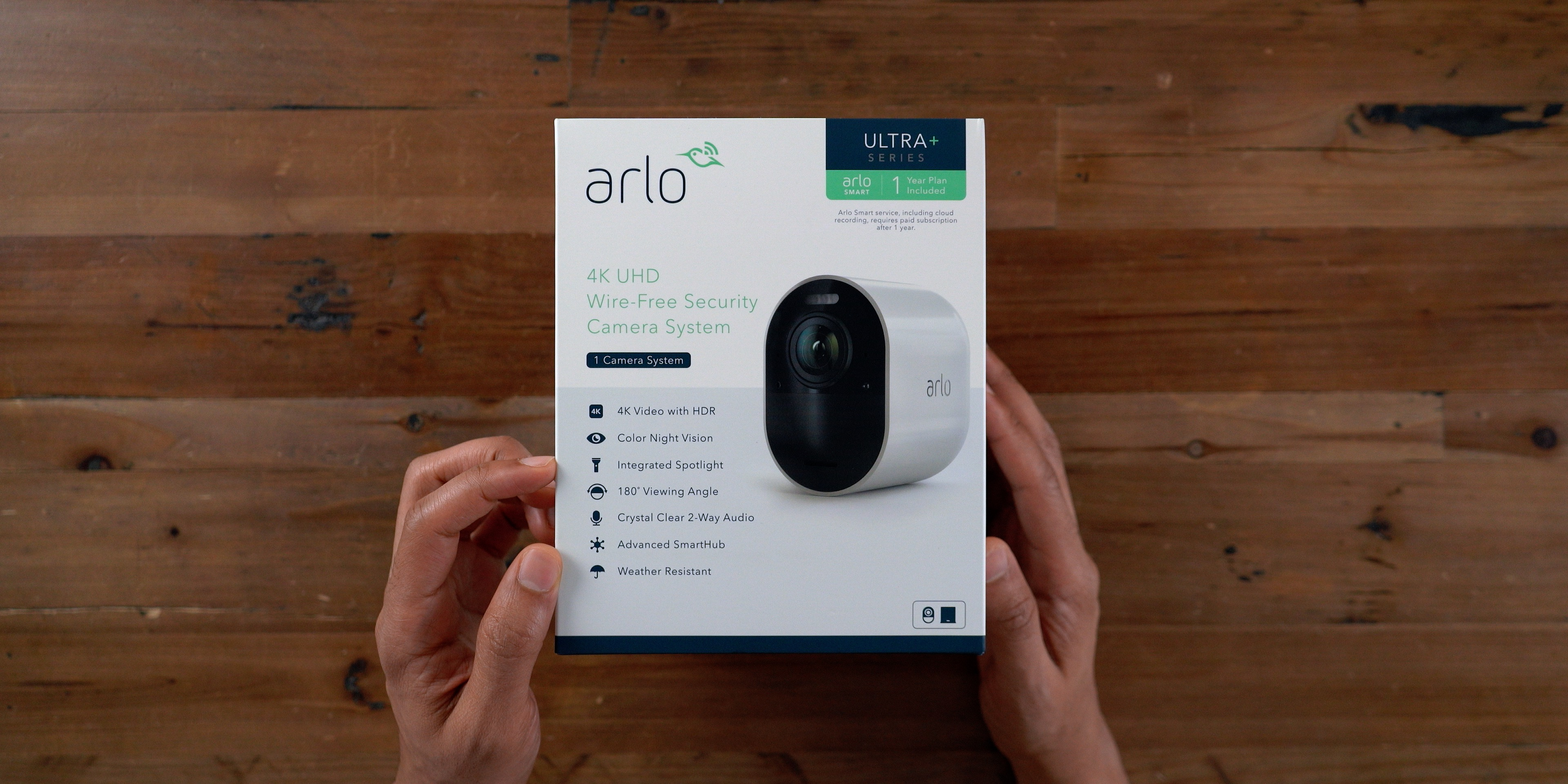 Unboxing wireless security camera
