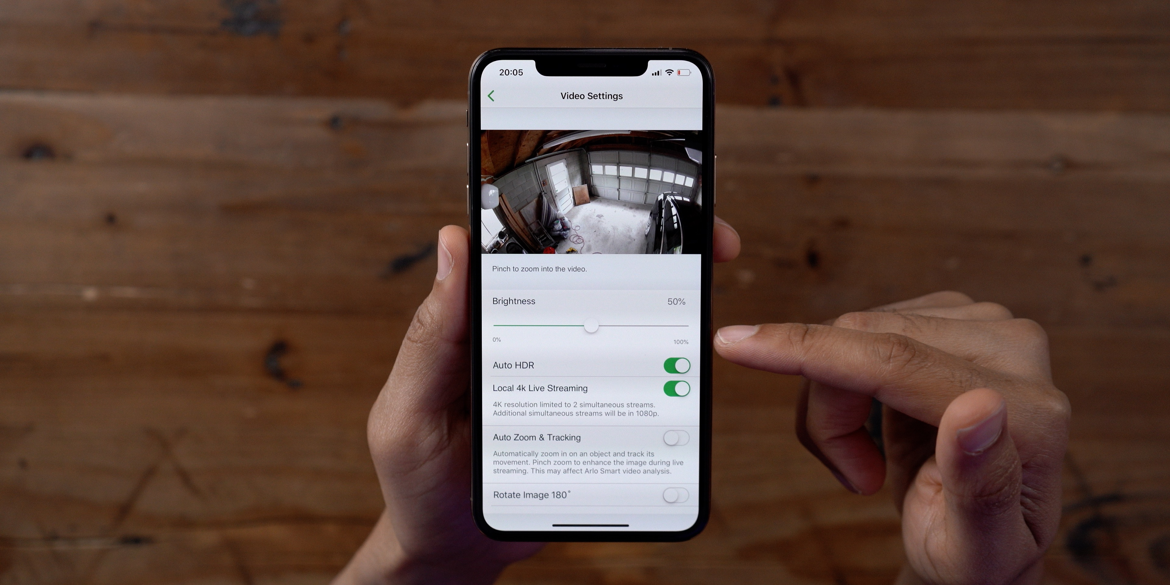 Arlo Ultra App Video Settings