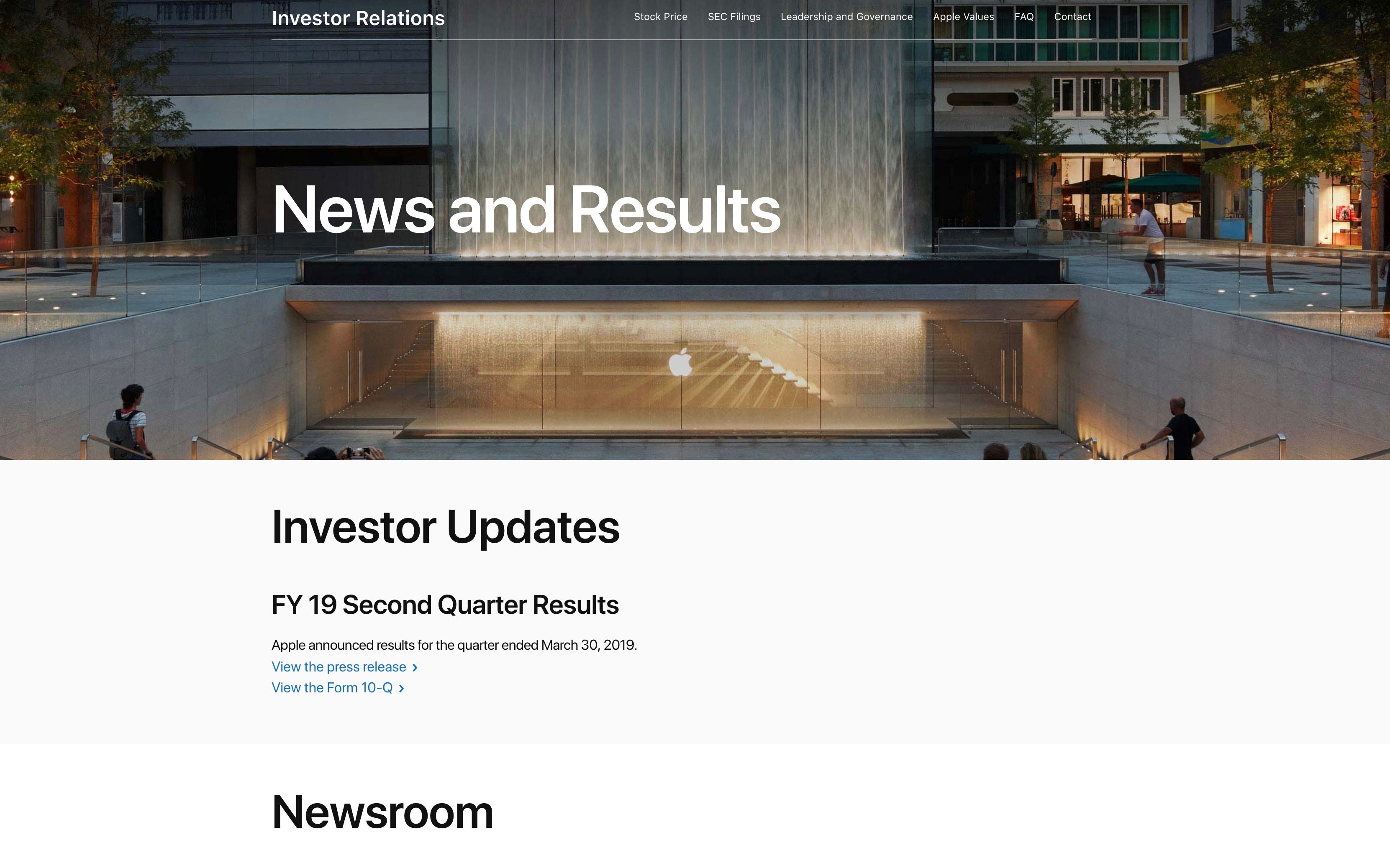Apple overhauls Investor Relations webpage with Newsroom focus, SEC email notifications