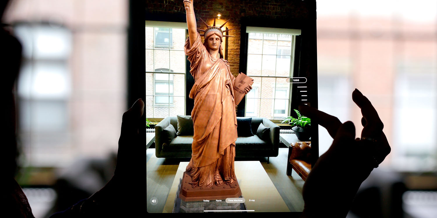 Official Statue of Liberty app offers AR views, including a view no-one has seen since 1916