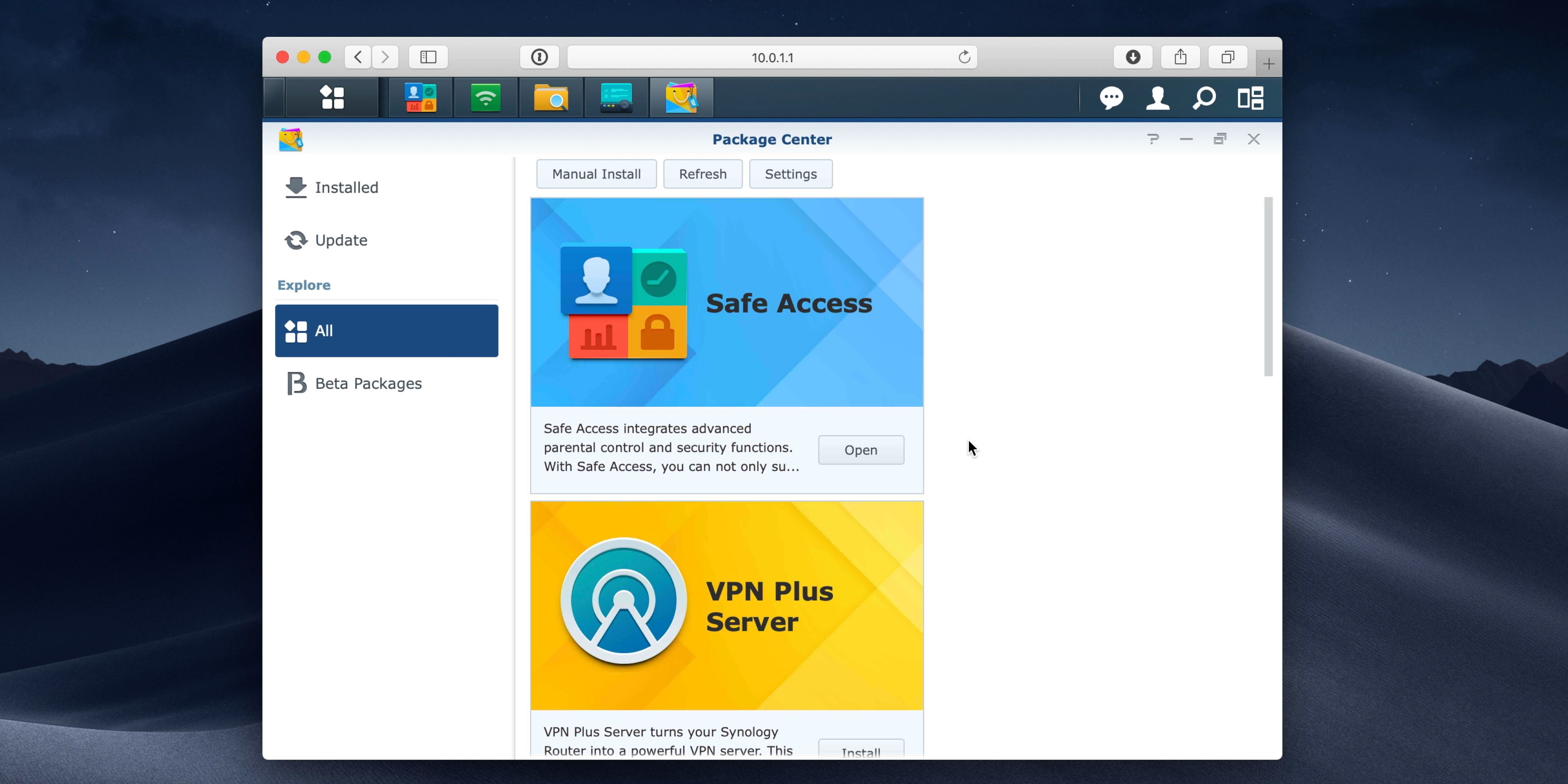 Synology SRM Package Manager