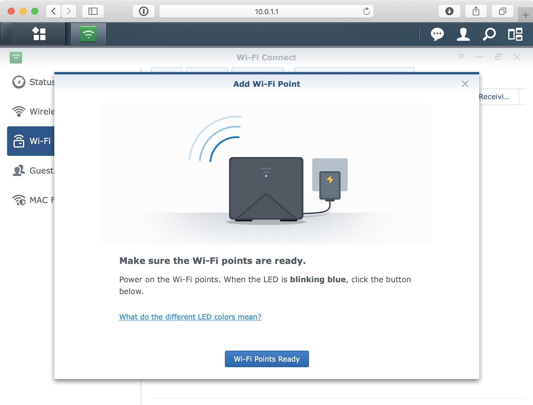 Synology MR2200ac SRM Add Wi-Fi Point