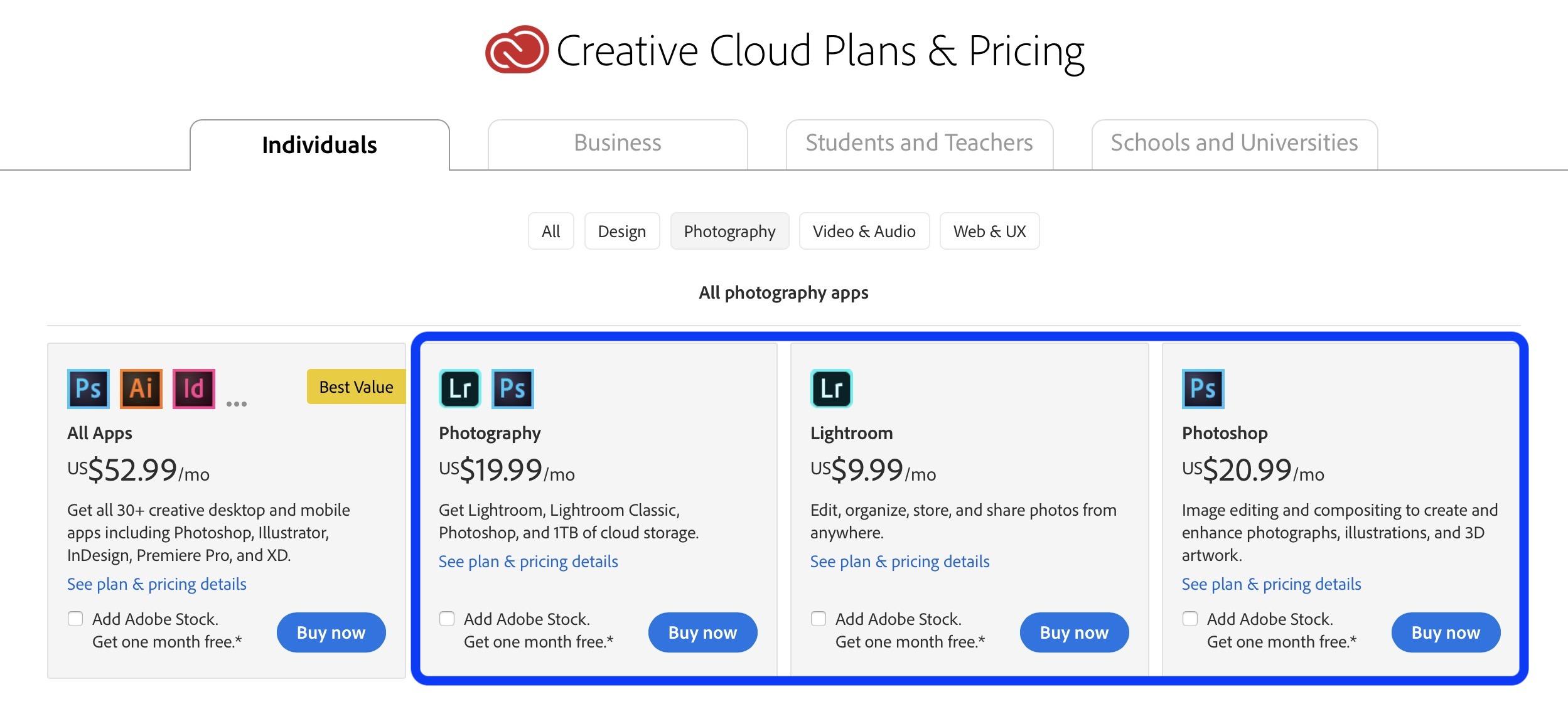 adobe creative cloud plan price hike