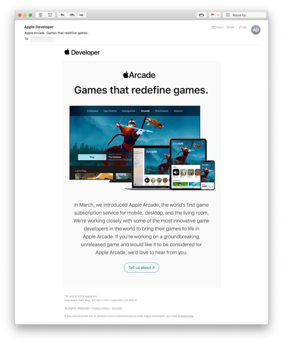 Apple inviting developers to pitch Apple Arcade games with