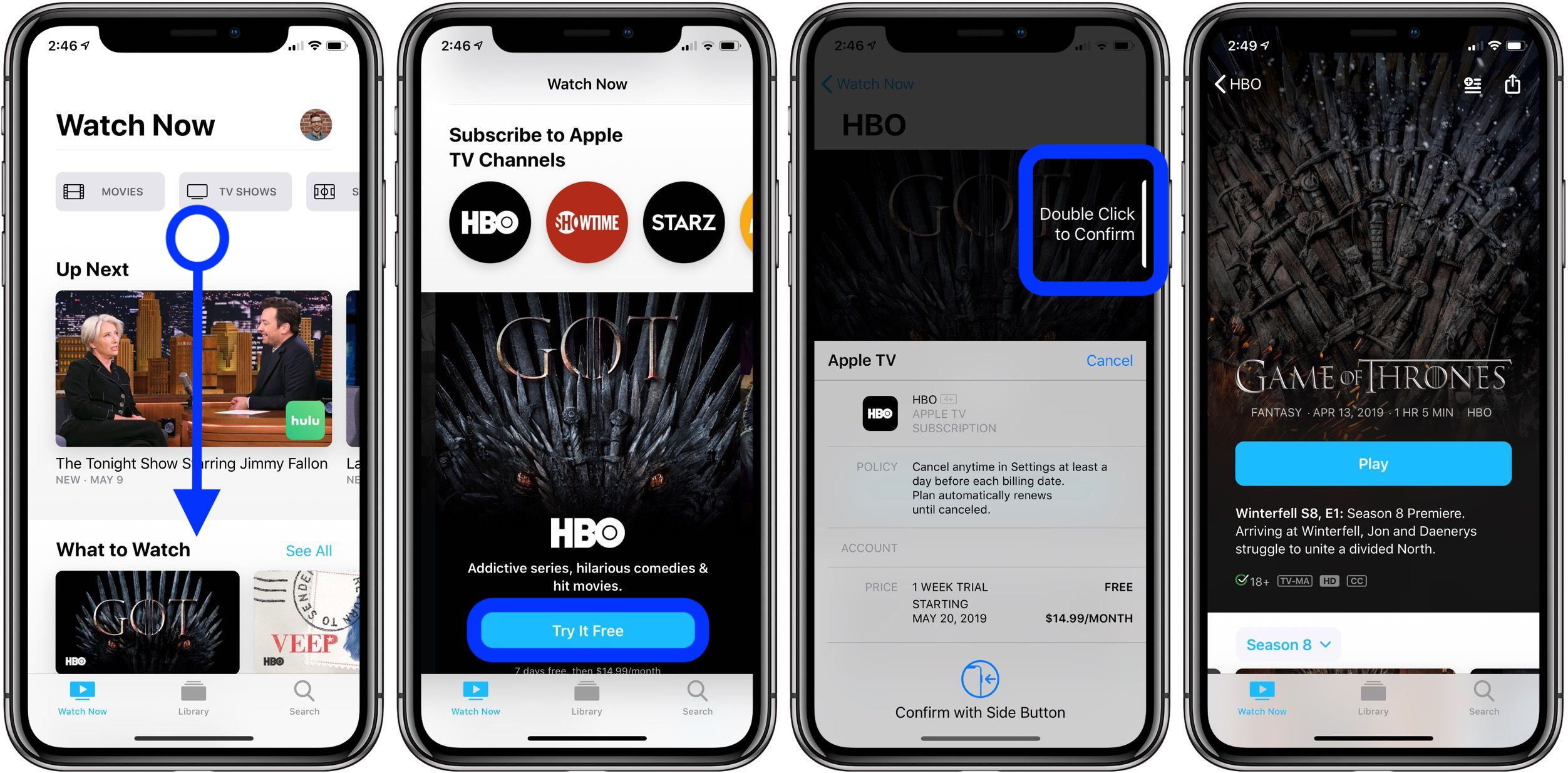 Can you download hbo go shows on your phone