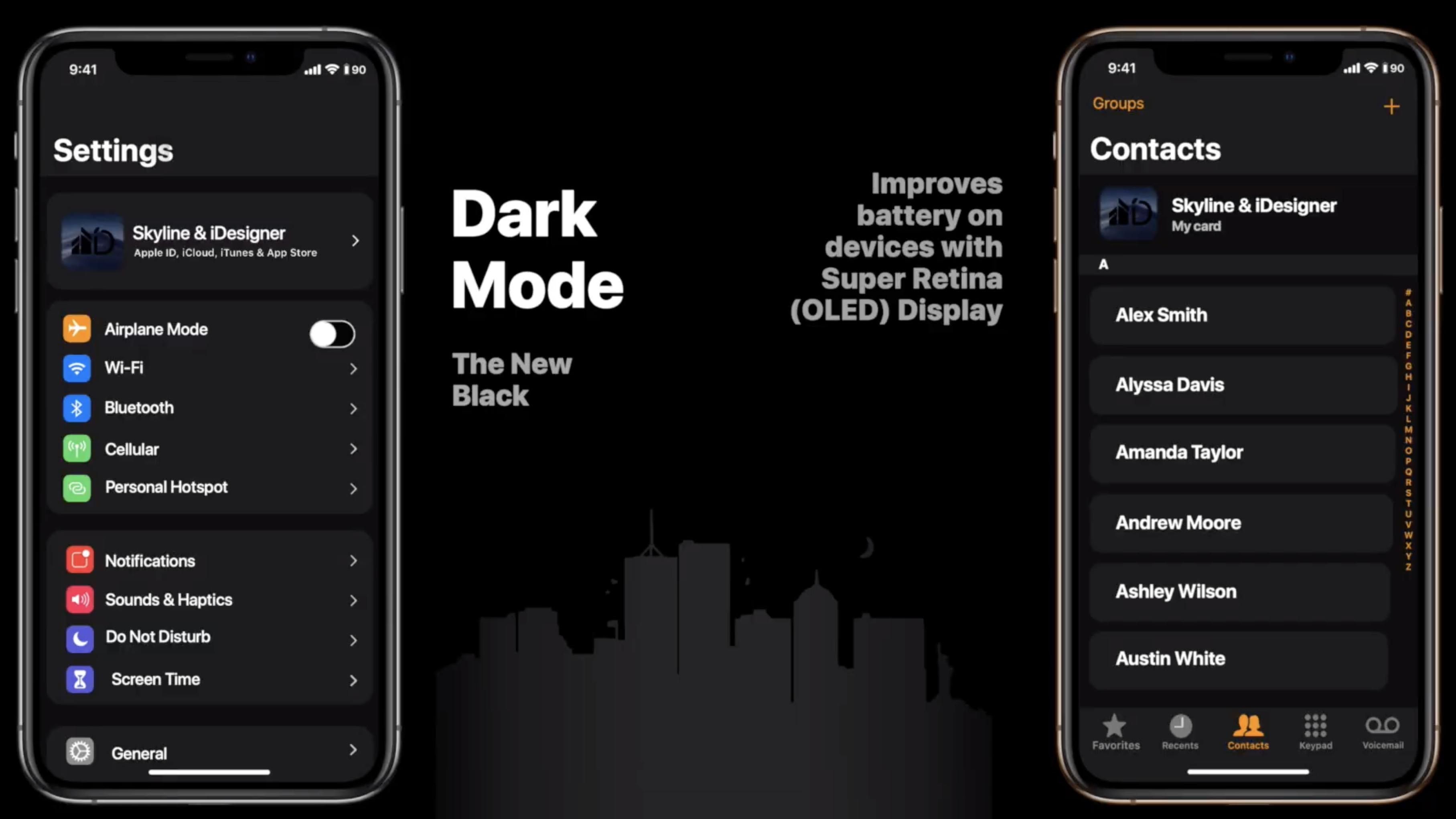 iOS 13 features dark mode