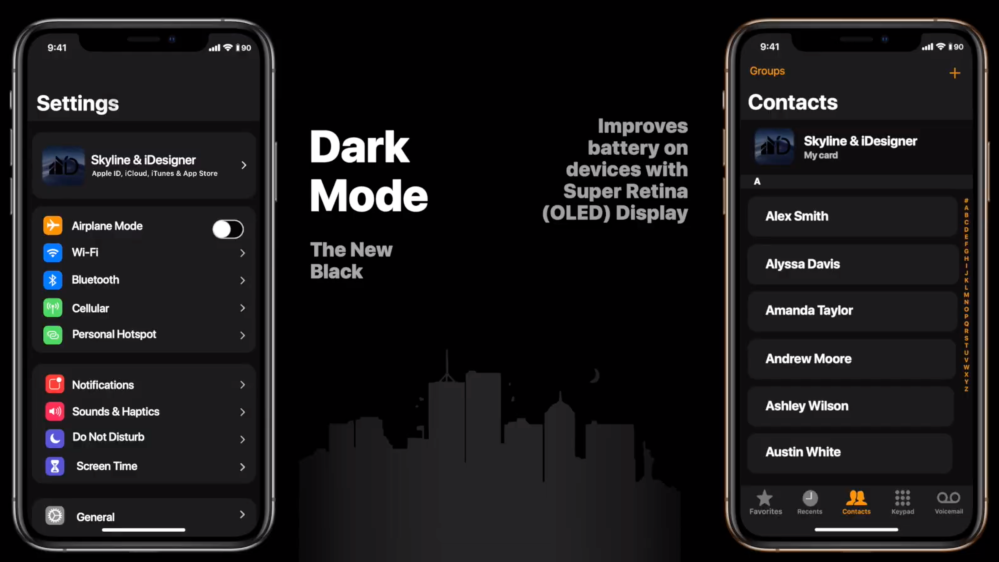 iOS 13 features dark mode