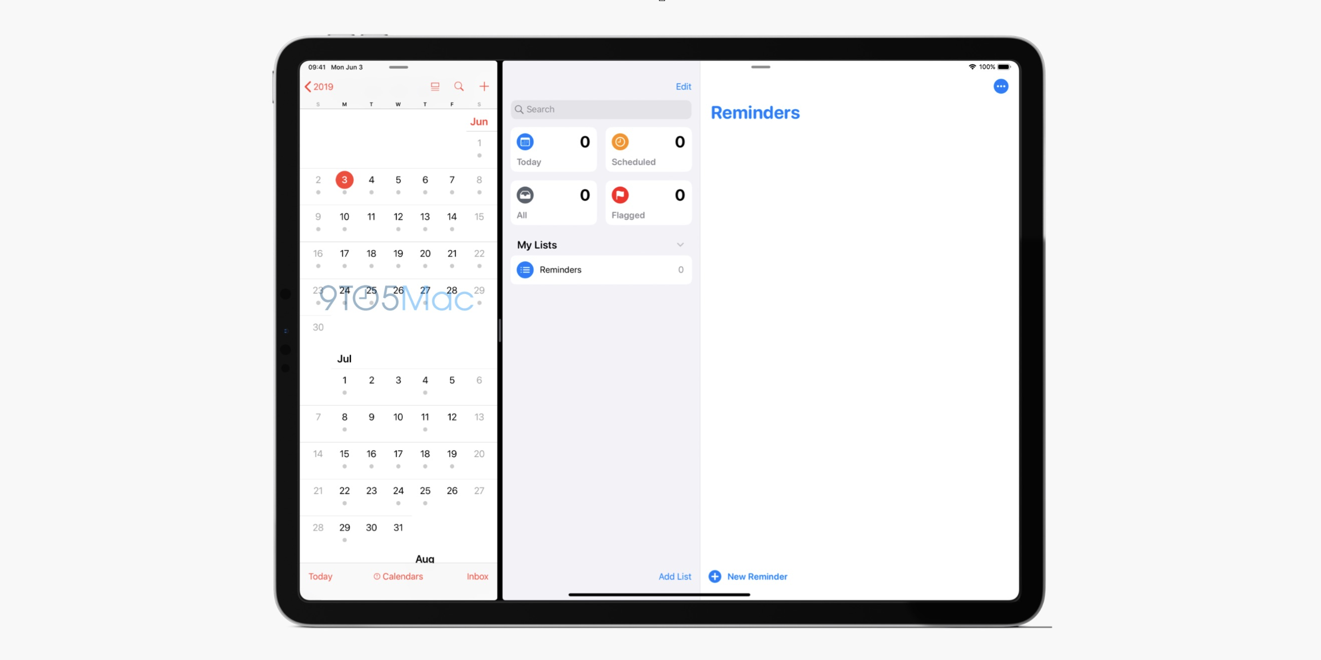 iOS 13 screenshot iPad Pro Reminders