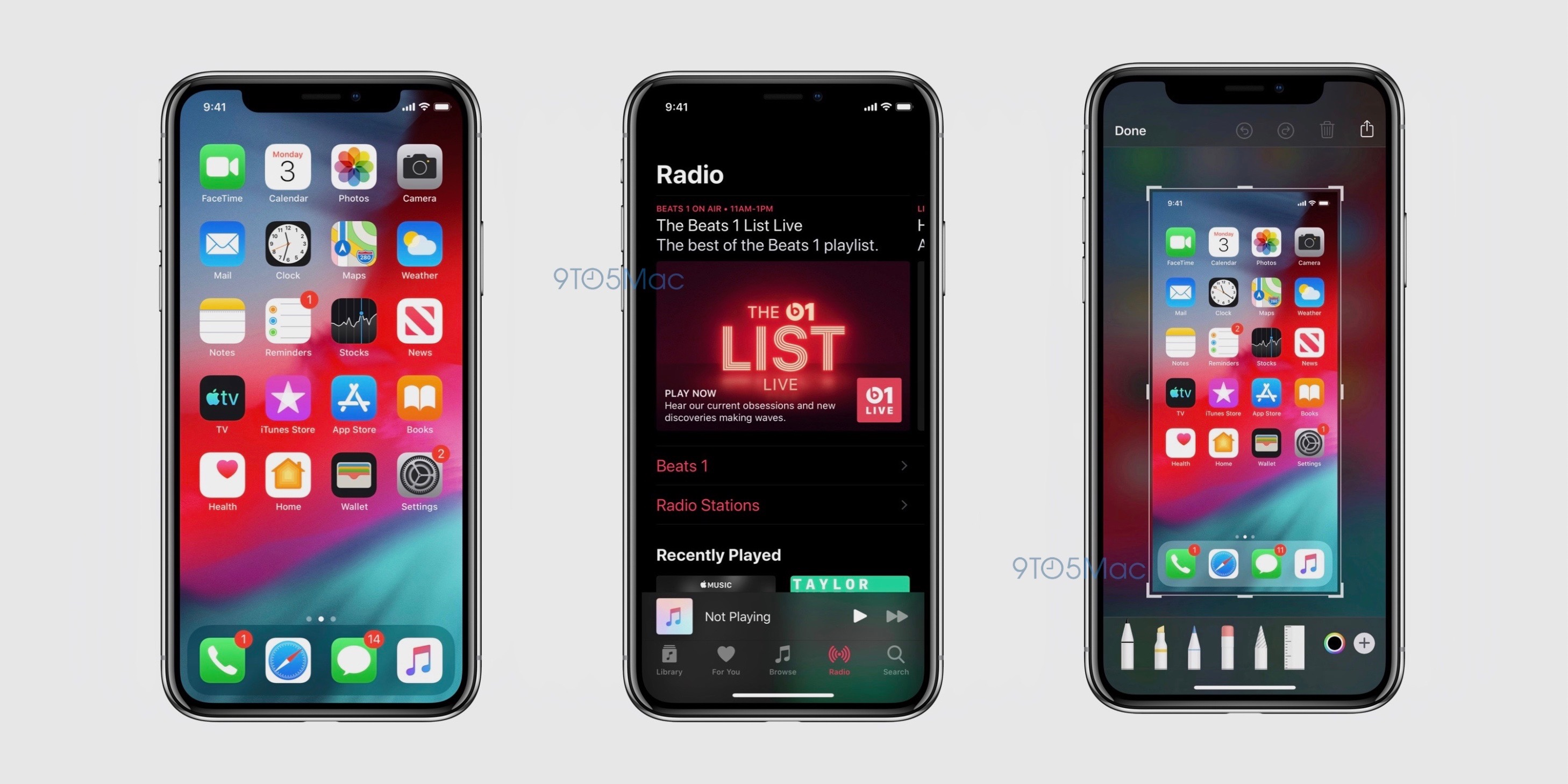 iOS 13 screenshot Dark Mode